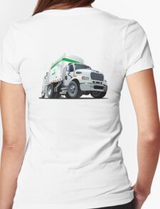 Cartoon Garbage Truck Womens Fitted T-Shirt