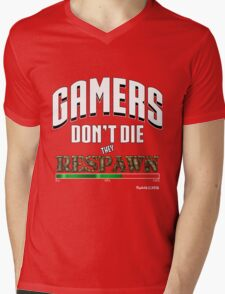 Gamers Respawn Mens V-Neck T-Shirt