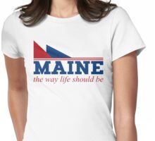 Maine the way life should be Womens Fitted T-Shirt