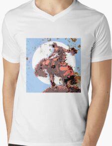 Lone Rider Mens V-Neck T-Shirt