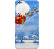 Santa with his Flying Reindeer iPhone Case/Skin