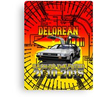 Delorean Back To The Futur Canvas Print