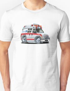 Cartoon Ambulance Car Unisex T-Shirt