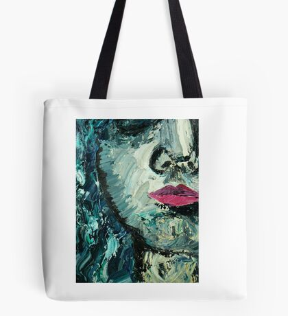 Blue woman oil painting Tote Bag