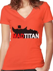 Mad Titan Women's Fitted V-Neck T-Shirt
