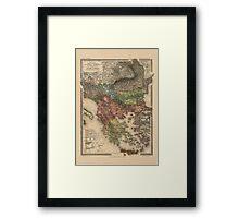 Map Of Turkey 1903 Framed Print