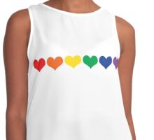 LGBT Colored Hearts  Contrast Tank
