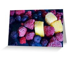 Scattered Fruit Greeting Card