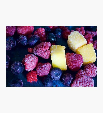 Scattered Fruit Photographic Print