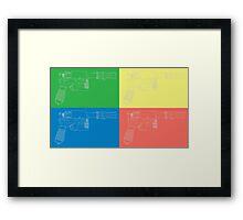 Han Solo Blueprint Tile Framed Print