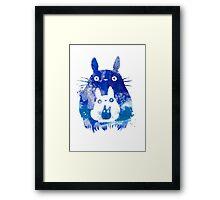 Totoro acuarela Framed Print