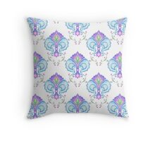 Watercolor medieval pattern Throw Pillow