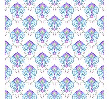 Watercolor medieval pattern Photographic Print