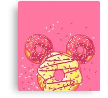 Pop Donut - Strawerry Frosting Canvas Print