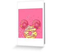 Pop Donut - Strawerry Frosting Greeting Card