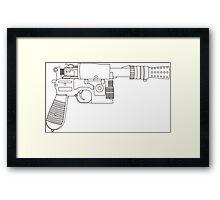 Han Solo DL-44 Line Art Framed Print