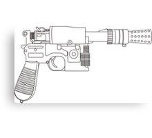 Han Solo DL-44 Line Art Canvas Print