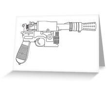 Han Solo DL-44 Line Art Greeting Card