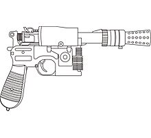 Han Solo DL-44 Line Art Photographic Print