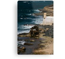 The Sentry By the Sea Metal Print