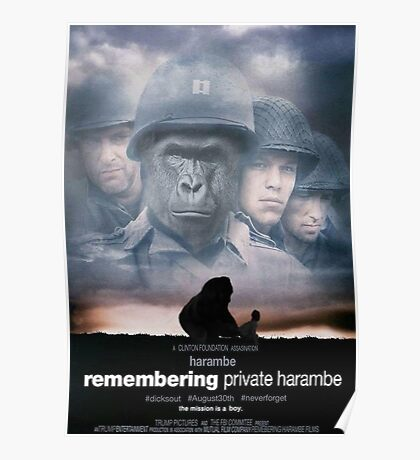 Remembering Private Harambe Poster