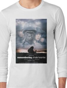 Remembering Private Harambe Long Sleeve T-Shirt