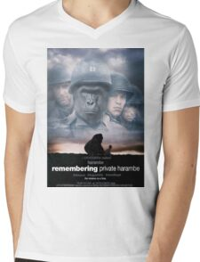 Remembering Private Harambe Mens V-Neck T-Shirt