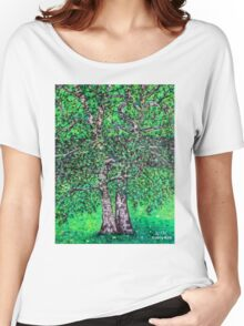 'Elm Trees' (Plein Air Painting) Women's Relaxed Fit T-Shirt