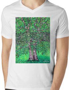 'Elm Trees' (Plein Air Painting) Mens V-Neck T-Shirt