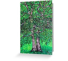 'Elm Trees' (Plein Air Painting) Greeting Card
