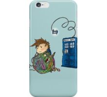 Wibbly Wobbly Kitty Doctor iPhone Case/Skin