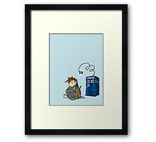 Wibbly Wobbly Kitty Doctor W/O words Framed Print