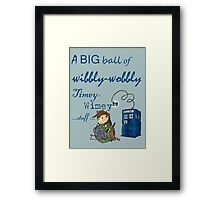 Wibbly Wobbly Kitty Doctor Framed Print