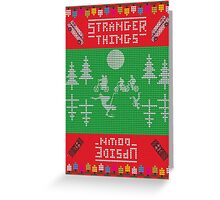 Stranger Things Christmas Greeting Card