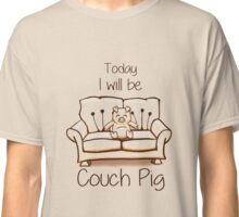 Couch Pig (Monochrome) Classic T-Shirt