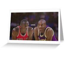 "Jordan vs. Kobe ""LEGENDS"" Greeting Card"