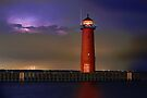 Lightning Lighthouse by Kenneth Keifer