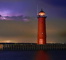 Lightning Lighthouse by Kenneth Keifer