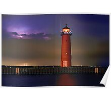 Lightning Lighthouse Poster