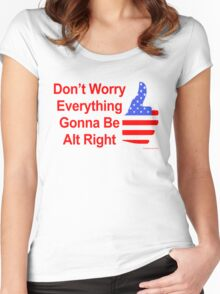 Alt Right Women's Fitted Scoop T-Shirt