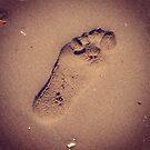 Sand footprint by Jonesyinc