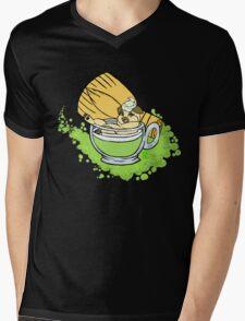 Green Pug Tea Mens V-Neck T-Shirt