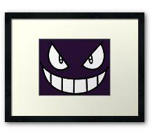 Gengar Face - Ghost Pokemon Framed Print