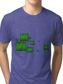 green circuit squares Tri-blend T-Shirt