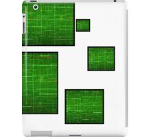 green circuit squares iPad Case/Skin
