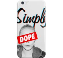 Cara Delevingne Simply Dope iPhone Case/Skin