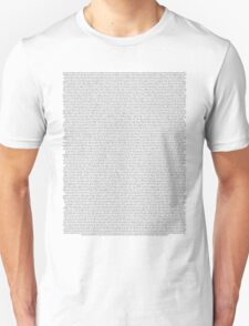 every Twenty One Pilots song/lyric off Self Titled Unisex T-Shirt