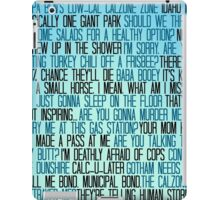 Ben Wyatt - Parks & Rec Quote Set iPad Case/Skin