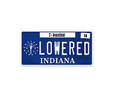 License Plate - BE PATIENT IM LOWERED Photographic Print