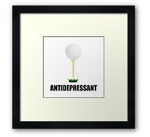 Antidepressant Golf Framed Print